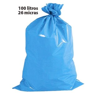 Saco Para Lixo 100L Azul 26 Micras Altaplast