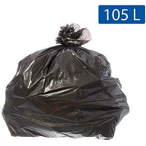 Saco Para Lixo 105L Preto 75X105Cm Ecoplan