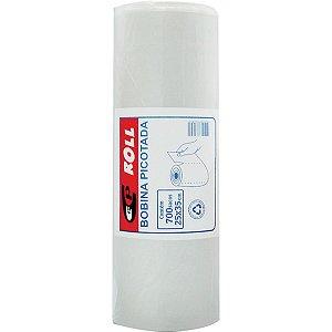 Saco Plastico Em Bobina 25X35 Picotada 2Kg. C/700Unid Central Plast