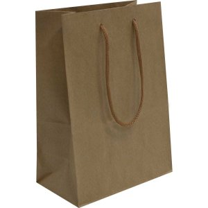 Sacola Para Presente Lisa Kraft 24X32X10 Cm. Interfitas
