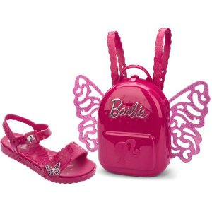 Sandalia Infantil Barbie Butterfly N.23/24 Pink Grendene