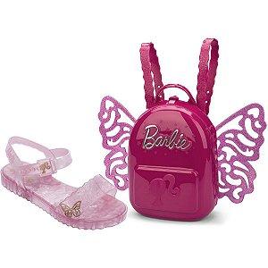 Sandalia Infantil Barbie Butterfly N.25 Rosa Grendene