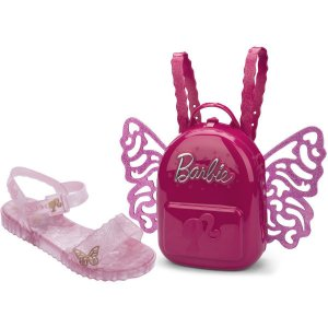 Sandalia Infantil Barbie Butterfly N.28 Rosa Grendene