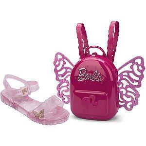 Sandalia Infantil Barbie Butterfly N.30 Rosa Grendene