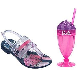 Sandalia Infantil Barbie Milkshake Azul/rosa Grendene