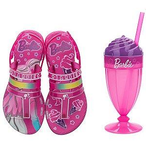 Sandalia Infantil Barbie Milkshake Rosa/rosa Grendene