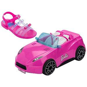 Sandalia Infantil Barbie Pink Car N.32/33 Rs/az Grendene