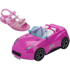 Sandalia Infantil Barbie Pink Car N.32/33 Rs/rs Grendene