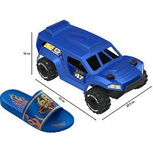 Sandalia Infantil Hot Wheels Speed N.23/24 Az/am Grendene