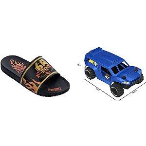 Sandalia Infantil Hot Wheels Speed N.26/27 Pt/am Grendene
