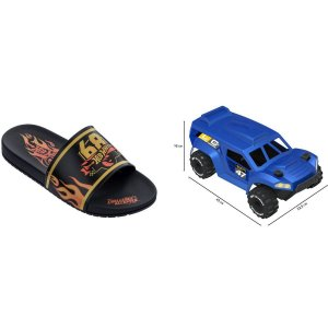 Sandalia Infantil Hot Wheels Speed N.32/33 Pt/am Grendene