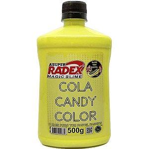 Slime Cola Candy Pastel Amarelo 500G Radex