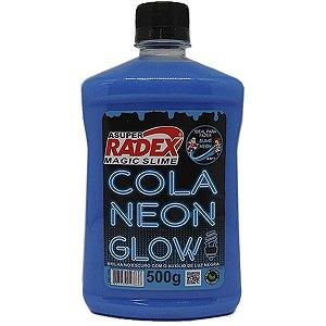 Slime Cola Glow Neon Azul 500Gr. Radex