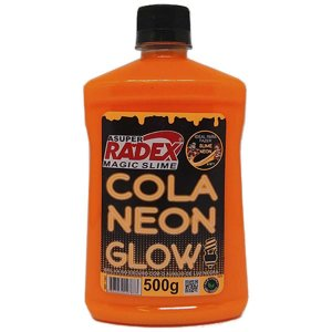 Slime Cola Glow Neon Laranja 500Gr. Radex