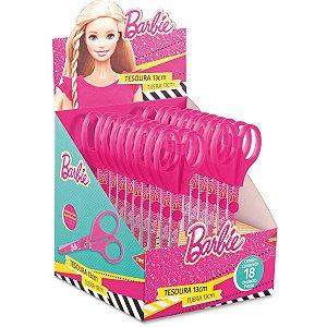 Tesoura Escolar Decorada Barbie 13Cm Summit