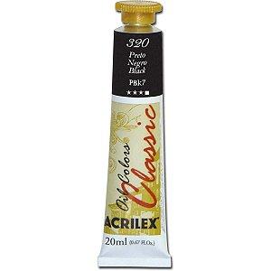 Tinta A Oleo Para Telas Preto 20Ml Acrilex