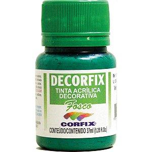 Tinta Acrilica Fosca Decorfix Verde Bandeira 37Ml. Corfix