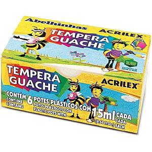 Tinta Guache 015Ml 06 Cores Acrilex