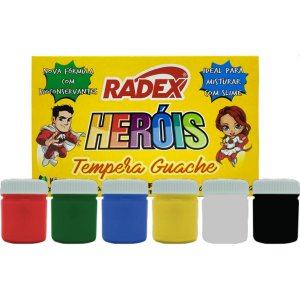 Tinta Guache 015Ml 06 Cores Radex