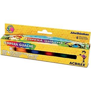 Tinta Guache 015Ml 06 Cores Auto Servico Acrilex