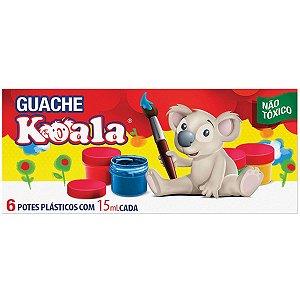 Tinta Guache 015Ml 06 Cores Koala Delta