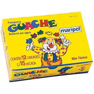 Tinta Guache 015Ml 12 Cores Maripel