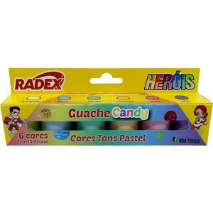 Tinta Guache 015Ml 6 Cores Candy Color Radex