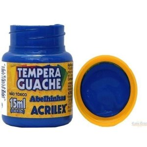 Tinta Guache 015Ml Azul Turquesa Acrilex
