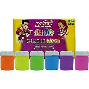 Tinta Guache 015Ml Neon Asuper 06 Cores Radex