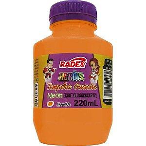 Tinta Guache 220Ml Laranja Neon Radex