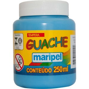 Tinta Guache 250Ml Azul Claro Maripel