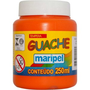 Tinta Guache 250Ml Laranja Maripel