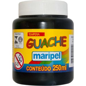 Tinta Guache 250Ml Preto Maripel