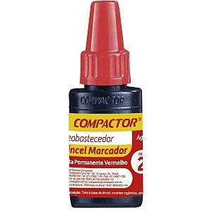 Tinta Marcador Permanente Reabastecedor 020Ml Vermelho Compactor