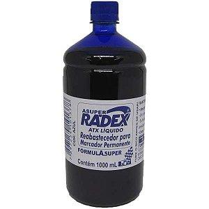 Tinta Marcador Permanente Reabastecedor 1000Ml Azul Radex