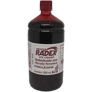 Tinta Marcador Permanente Reabastecedor 1000Ml Vermelho Radex