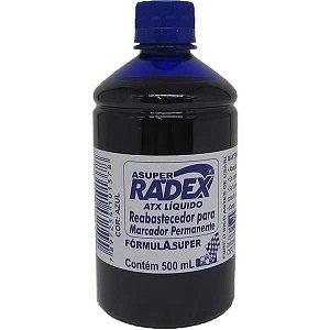 Tinta Marcador Permanente Reabastecedor 500Ml Azul Radex