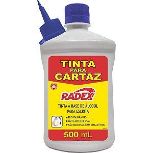 Tinta Marcador Permanente Tinta Refil Cartaz 500Ml. Azul Radex