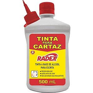 Tinta Marcador Permanente Tinta Refil Cartaz 500Ml. Verm Radex