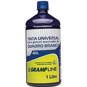 Tinta Marcador Quadro Branco Reabastecedor 1000Ml Azul Gramp Line