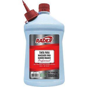 Tinta Marcador Quadro Branco Reabastecedor 1000Ml Vermelho Radex