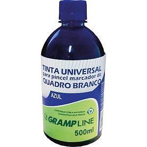 Tinta Marcador Quadro Branco Reabastecedor 500Ml Azul Gramp Line