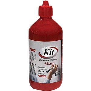 Tinta Marcador Quadro Branco Reabastecedor Vermelho 500 Ml. Kit