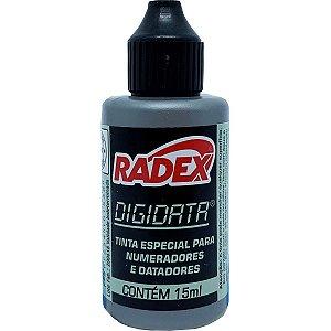 Tinta Para Carimbo 15Ml Preta Numerador E Datador Radex