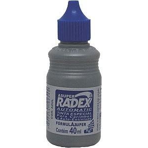 Tinta Para Carimbo 40Ml Azul Automatico Radex