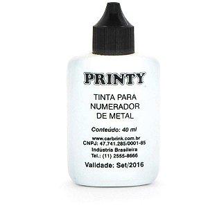 Tinta Para Carimbo 40Ml Preta Automatico Carbrink