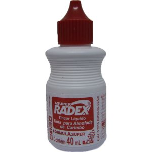 Tinta Para Carimbo 40Ml Vermelha Radex