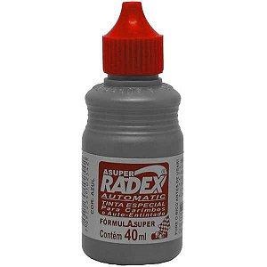 Tinta Para Carimbo 40Ml Vermelho Automatico Radex