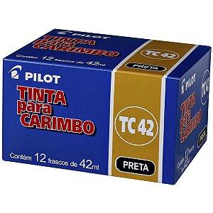 Tinta Para Carimbo 42Ml Preto Pilot