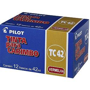 Tinta Para Carimbo 42Ml Vermelha Pilot